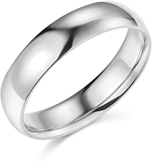 14k Yellow or White Gold 5mm Comfort FIT Plain Wedding Band