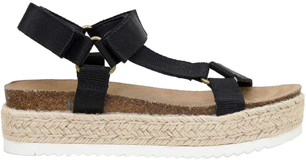 Women's Cushionaire Mavi Espadrille Cork Wedge Sandal +Wide Widths Available