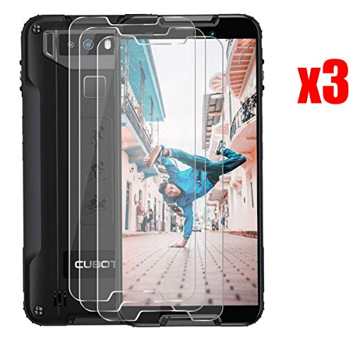 QFSM 3 Pack Película Protectora para CUBOT Quest, Resistente al Desgaste Protector de Pantalla para teléfono móvil Vidrio Templado