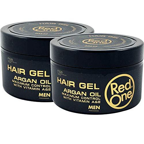 Red One gel pour cheveux à l'Argan 450 ml lot de 2 pots de gel.