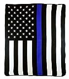 AES USA Police Thin Blue Line American Back The Blue Blue Lives Matter 50x60 Polar Fleece Blanket Throw