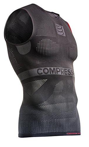 Compressport - Camiseta de compresión para hombre, talla L (Talla del fabricante : T3), color gris
