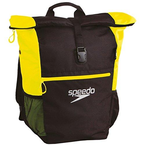 Speedo Unisex's Team III Plus AU Bag-Black/Fluorescent Yellow, One Size