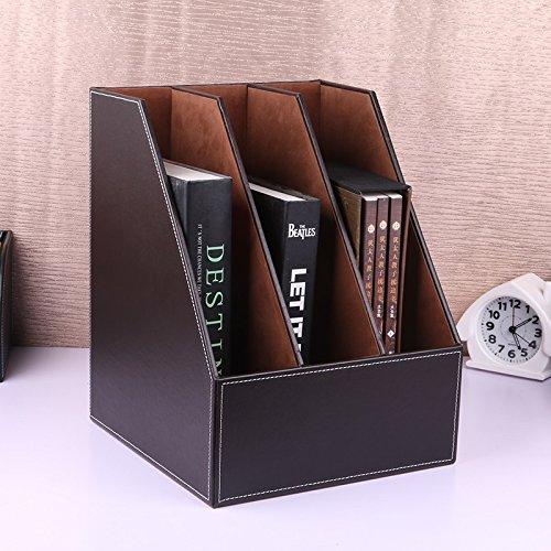 Fichier Boîte Panier Triple File Frame Données Stand Livre Dossier Creative Desktop Fournitures de bureau Etagères ( Couleur : # 1 )