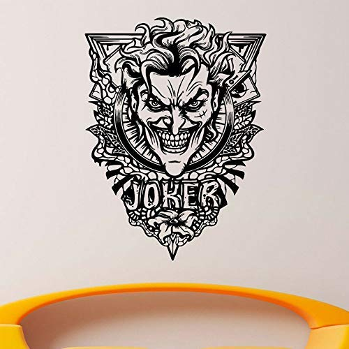 Joker Mur Vinyle Decal Super-Héros Autocollant Art Amovible Décoration Batman Chambre D'Enfants Papier Peint Mural 57X76 Cm