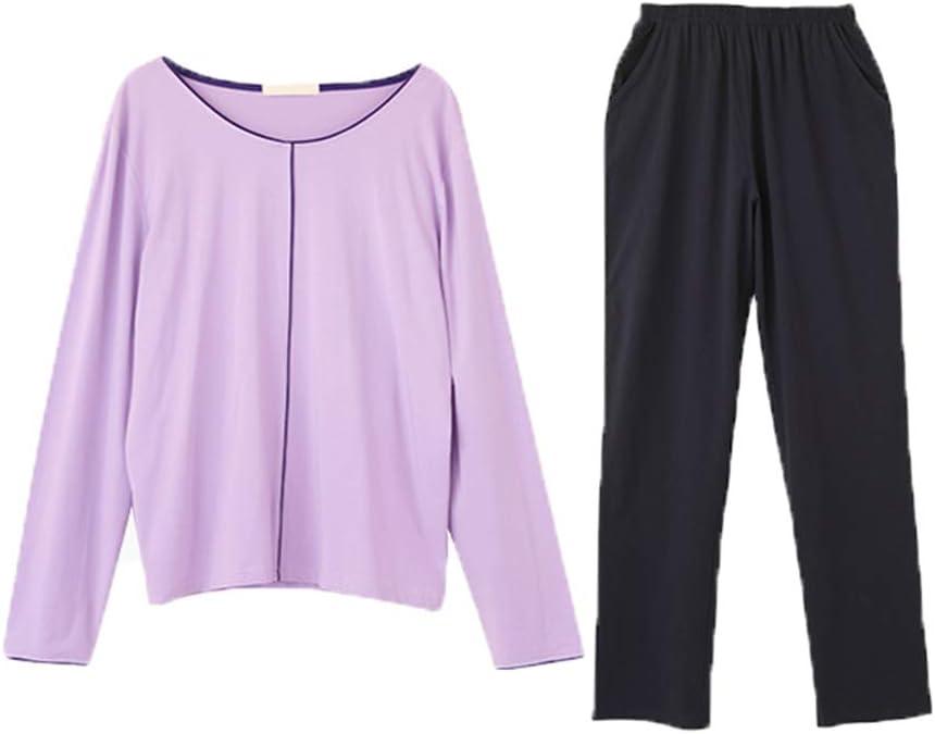 M3M Spring Thin Women Pajamas Long-Sleeved Nippon regular agency Cotton Set Trous Soft Dallas Mall