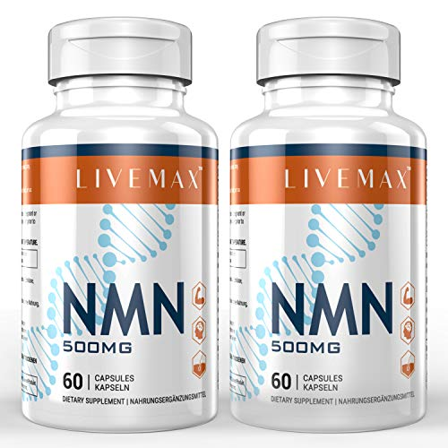NMN Nicotinamide Mononucleotide Supplement, NAD Booster Supplement, Vitamin B3 Family - 500mg NMN Per Serving to Support NAD, Anti Aging Skin Cell Health & Energy (2 Bottles)
