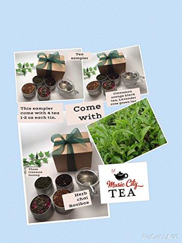 MusicCityTea Loose Tea Sampler Gift Wrap Best Seller By Music City Tea