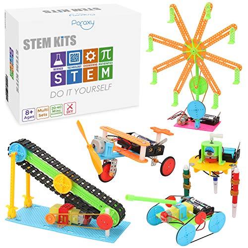 5 Set STEM Kit,DC Motors Electronic Assembly Robotic Kit DIY STEM Toys for Kids,Building Science Experiments
