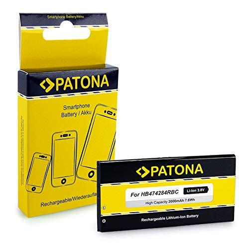 PATONA Akku HB474284RBC 2000mAh kompatibel mit Huawei Ascend G521, G651, Y635
