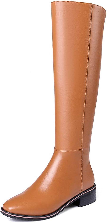 T -JULY -JULY -JULY kvinnor ny Plus Storlek Genuine Cow läder Riding stövlar Damer Mode Zip Up Knee höga stövlar  fabriks direkt och snabb leverans