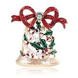 YJRIC Broche Broches de Campana de Diamantes de imitación Brillantes para Mujer, alfileres de Ropa de Año Nuevo Bonitos, Accesorios de joyería de Navidad, Gran Oferta 2018