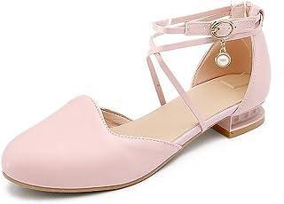 BalaMasa Womens ASL06352 Pu Block Heels