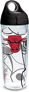 Tervis NBA Chicago Bulls Insulated Tumbler with Wrap and Black with Gray Lid, 24oz Water Bottle, Clear