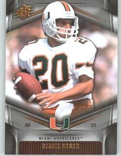 2012 Upper Deck SPx Football Card #2 Bernie Kosar - Miami Hurricanes - Cleveland Browns - NFL - NCAA Legend