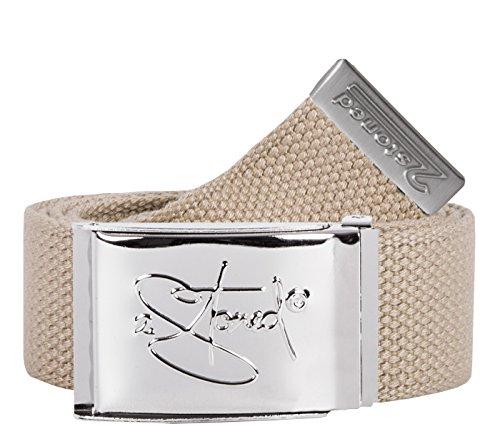 2Stoned Gürtel Canvas Belt Beige, Chromschnalle Classic, 4 cm breit, Stoffgürtel für Damen und Herren