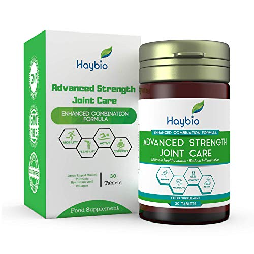 Joint Care Pain Relief Supplement - Muscle and Cartilage Supplements For Men & Women - Contains Green Lipped Mussel, Turmeric, Hyaluronic Acid & Collagen - Helps Knee, Back, Neck,Sciatica – 30 Tablets