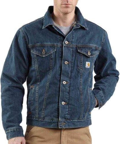 Carhartt J292Denim chaqueta Sherpa Lined Chaqueta Azul