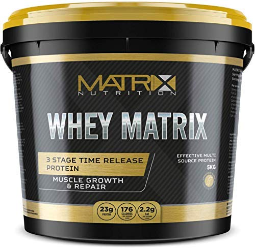 Whey Matrix Protein | Concentrate Sports Nutrition Gainer Powder Shake | Optimum Lean Muscle Growth All in One Drink. (Lemon Meringue, 5KG)
