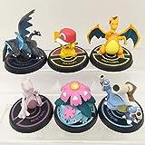 Ltong Pokemon 8 generación 6pc 5-8cm Pikachu Charizard acción Figura muñecas Juguete Anime Modelo