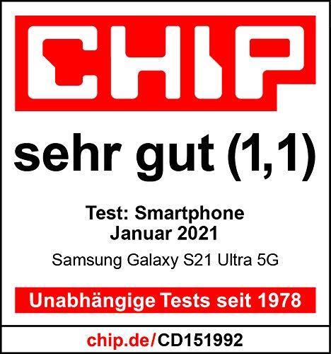 Samsung Galaxy S21 Ultra 5G, Android Smartphone ohne Vertrag, Quad-Kamera, Infinity-O Display, 128 GB Speicher, leistungsstarker Akku, Phantom Black - 7