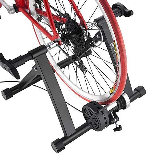 GAOTTINGSD Rullo per Bicicletta Allenamento Esercizio Biciclette Stazionarie Indoor Bike Trainer Stand Magnetico Home Pieghevole Pieghevole Bike Stazionaria Ultra-Quie Flywheel Spinning Bike