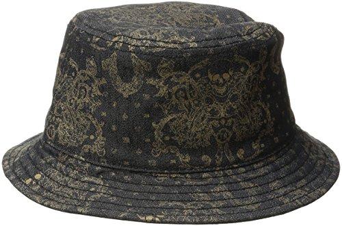 True Religion Men's Metallic Print Bucket Hat, Black, Large/X-Large