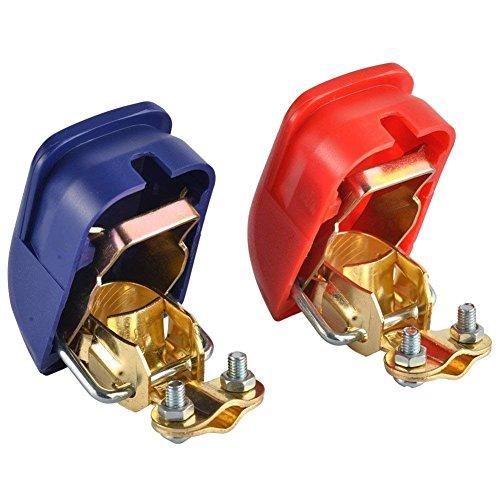 Majome 1Pair de liberación rápida Terminales de batería Abrazaderas Auto Auto Caravana Autocaravana