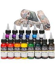 DLD Professionele tattoo-inkt, 14 kleuren, 14 kleuren, microblading pigmentset, 30 ml, fles, tattoo-inkt, pigmentkit voor tattoo en body verf