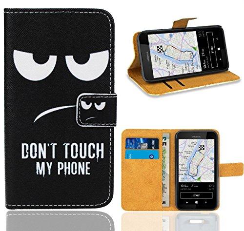 FoneExpert® Nokia Lumia 530 Handy Tasche, Wallet Hülle Flip Cover Hüllen Etui Ledertasche Lederhülle Premium Schutzhülle für Nokia Lumia 530