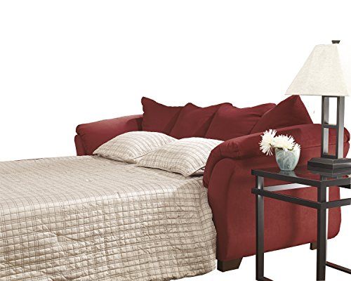 Signature Design by Ashley - Darcy Full Size Ultra Soft Upholstery Sleeper Sofa, Salsa Red