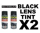 E-Tech - Spray tintado para lentes de coche (2 unidades, 150 ml), color negro
