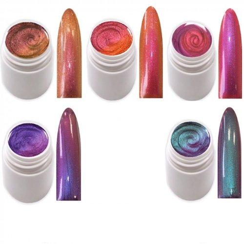 xxl-cosmetic 5 x 5 ml Exclusive Flip Flop Glitter Farbgel Color Changing EG-Set 1