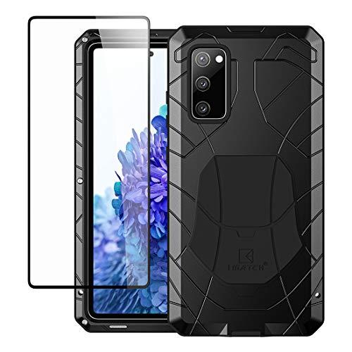 Foluu Galaxy S20 FE 5G Case, Galaxy S20 FE Metal Phone Case, Aluminum Metal Shockproof Bumper Frame Case Soft Rubber Silicone Military Heavy Duty Hard Case for Samsung Galaxy S20 FE 5G 2020 (Black)