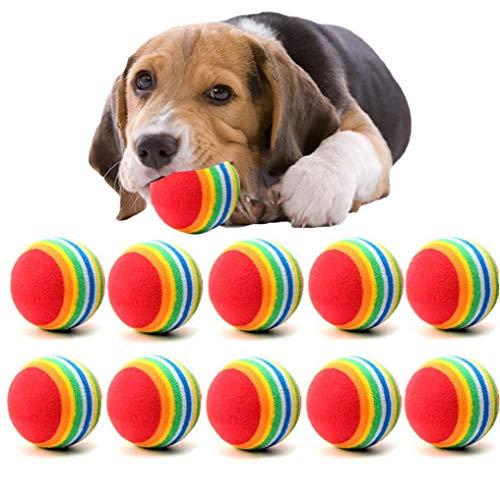 Case Cover 10pcs Hunde Chew Ball, Kleiner Hund Spielzeug, Hündchen Ball Für Haustier-Spielzeug Welpen Tennisball-hundespielzeug