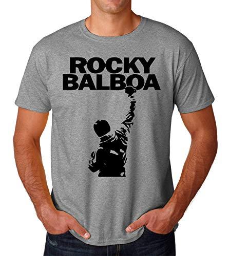 Rocky Balboa Never Give Up Men's T-Shirt Hombre Camiseta