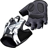 Mountain Bike Gloves for Men Women - Full-Palm Protection Cycling Gloves - Biking Gloves Fingerless Bicycle Gloves Men - Long-Wearing - Non-Slip Cycle Gloves Men - Half Finger Bicycling Gloves