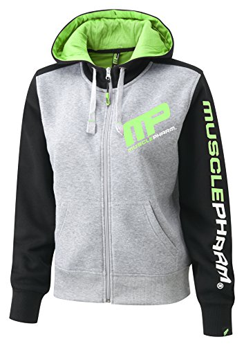 MusclePharm Damen Textilbekleidung Ladies Hooded Top, Green, M