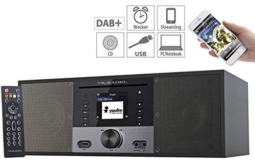 VR-Radio Kompaktanlage: Stereo-Internetradio m. CD-Player, DAB+/FM, Farbdisplay, Wecker, 32 W (WLAN Radio mit CD)
