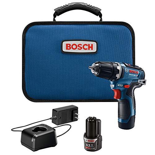Bosch GSR12V-300B22 12V Max EC Brushless 3/8 In. Drill/Driver Kit (Renewed)