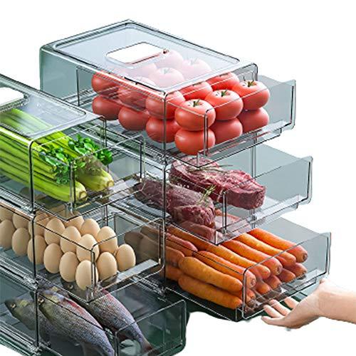 YXXHM- Caja del Mantenga Tipo de cajón Frigorifero Tanques Granos Organizadores Almacenamiento Varios Fruta Refrigerador Recipientes Alimentos Large