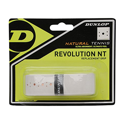 Dunlop NT Replacement 1.8 mm, Grip per Racchetta da Tennis Unisex Adulto, Bianco