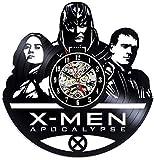 Horloge Murale en Vinyle Vinyl Record Horloge Murale Marvel Comics X-Men Apocalypse Cartoon Creux Famille Décoration Horloge