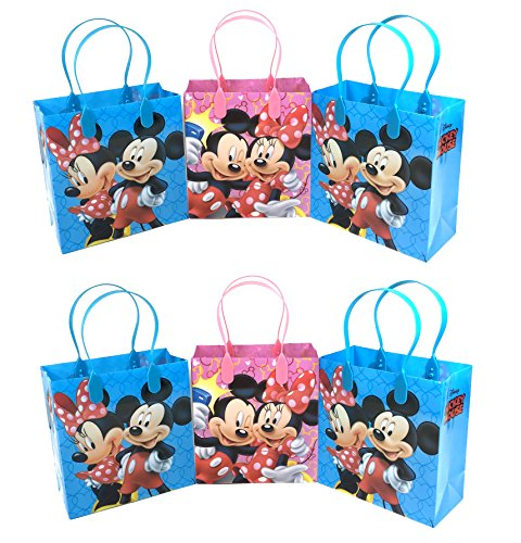 Disney 24pc Mickey & Minnie Mouse Goodie Bags Party Favor Bags Gift Bags by