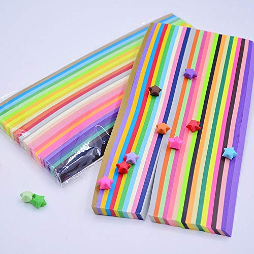 1030 stks maken sterren ambachtelijke papieren strips snoep kleur lucky star origami kinderen diy origami ambachtelijke papier 27 kleuren, 1350 stks 27 kleur