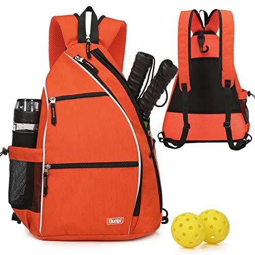 Pickleball Bag Pickleball Backpack for Women Men Pickleball racquet Bag Sucipi Pickleball Backpack Reversible Pickleball Paddle bag Pickelball Rackets Bags for Ladies Girls Boys Kids Orange
