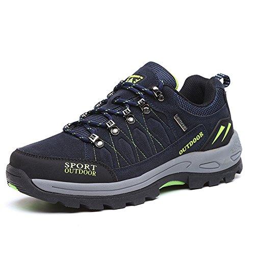 FZUU Unisex Wanderschuhe Trekking Schuhe Herren Damen Sport Outdoor Klettern Sneaker (45 EU, Navy blau)