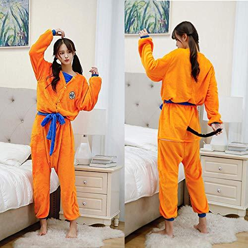 Albornoz para niños adultos Dragon Ball Son Goku, disfraz de Cosplay, bata de baño, patrón de dormir, bata de felpa, pijamas para hombres y mujeres