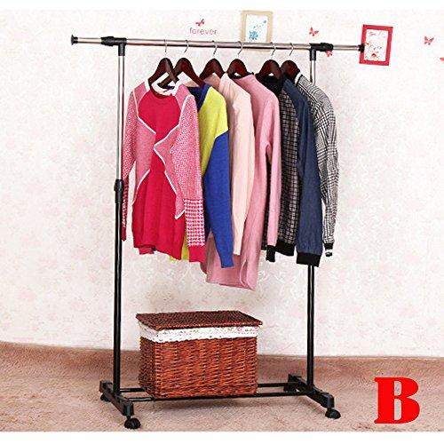 Kleiderständer fahrbar höhenverstellbar Kleiderständer auf Rollen sehr stabil stabile Kleiderstange Kleiderständer Metall rollbarer Kleiderständer Edelstahl mobiler Kleiderständer Metall verstellbar