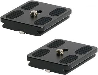 Harwerrel 50mm Quick Release Plate Fits Arca-Swiss Standard for Camera Tripod Ballhead (Pack of 2)